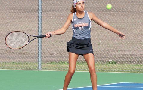 Tennis Girls Sweep Chapman Matches