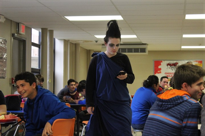 Emily Burt dressed as Hades from the animation Hercules