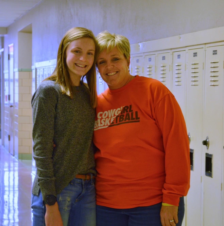 Mrs. Burton with daughter Sydney Burton