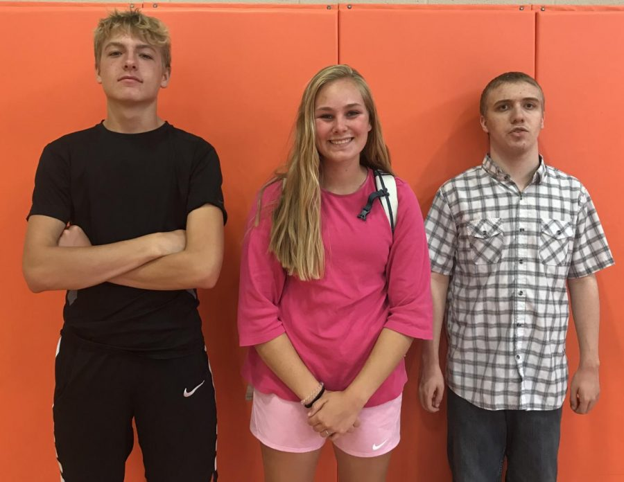 2nd Block champions Cooper Wildey, Abi Lillard, and Bradley Mascareno