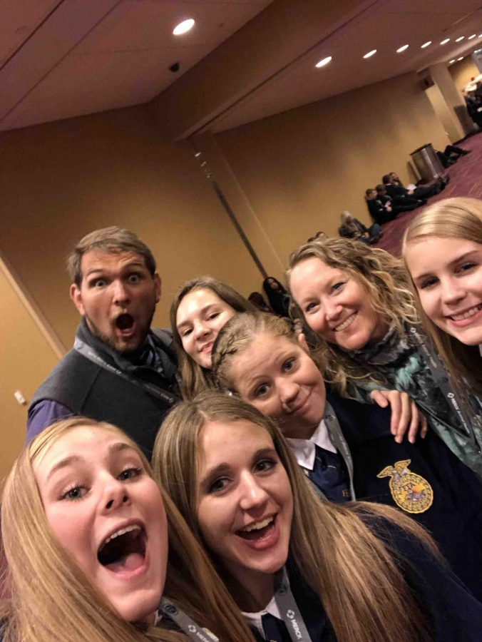 Selfie Time: Mr. Cooper poses for a photo with the group.
