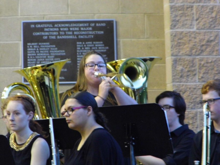 Senior Brittney Ebersole performs a solo.