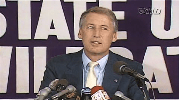 Snyder in his 1989 introductory press conference, where he stated that the opportunity for the greatest turnaround in college football exists here, and its not one to be taken lightly.