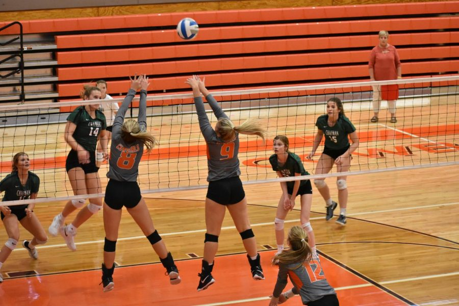 Jumping for joy, the Cowgirls defeated the Irish in both of their matches.